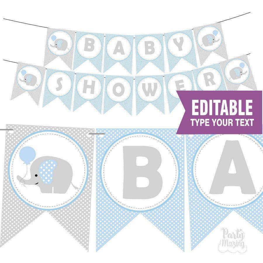 010 Best Free Baby Shower Printable Elephant Highest Quality  DecorationFull