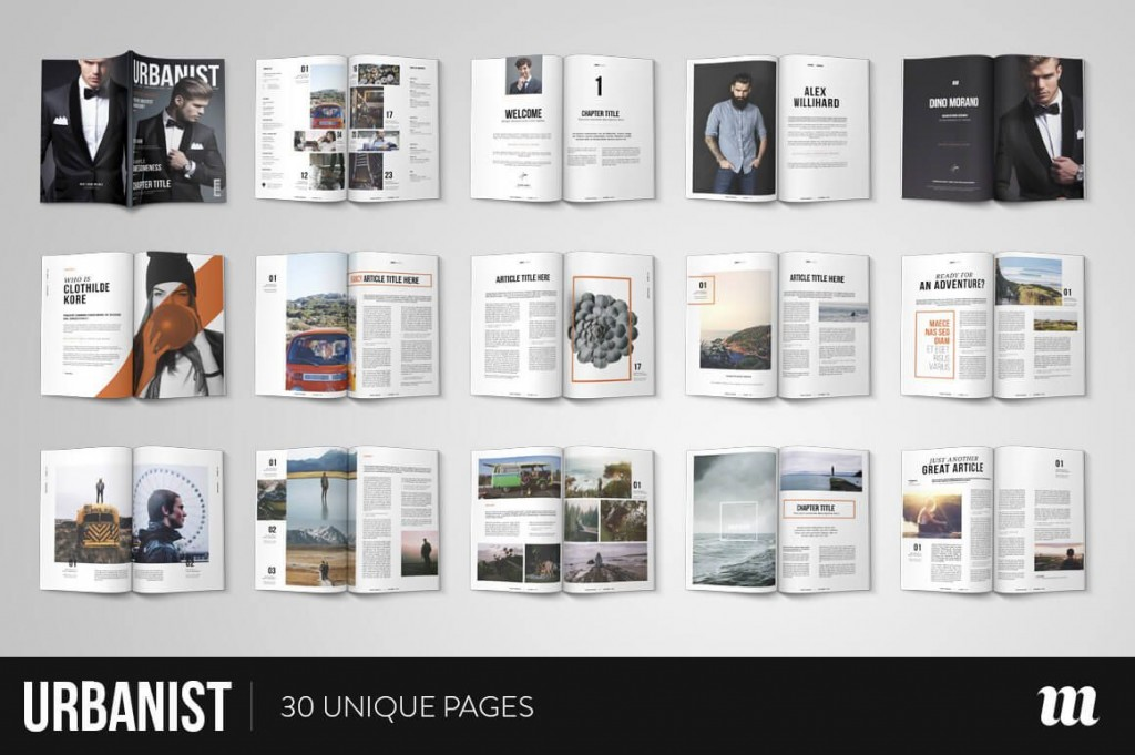 010 Best Free Magazine Layout Template High Resolution  Templates For Word Microsoft PowerpointLarge