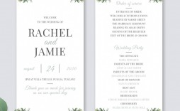 010 Best Wedding Order Of Service Template Word Highest Quality  Free Microsoft