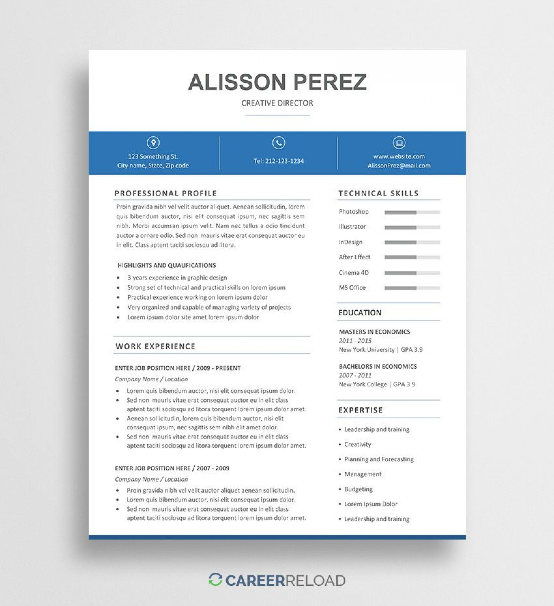010 Breathtaking Resume Template Free Word Doc Sample  Cv Download Document For Student1920