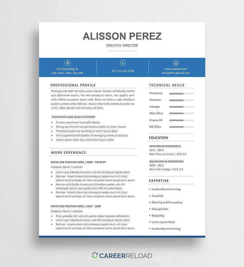 010 Breathtaking Resume Template Free Word Doc Sample  Cv Download Document For StudentFull