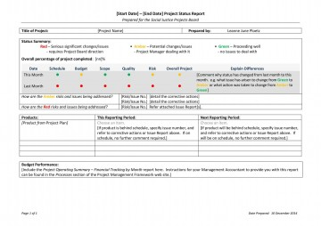 010 Dreaded Project Management Report Template Free High Def  Word Weekly Statu Excel360
