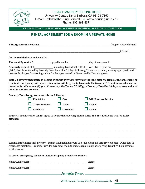 010 Dreaded Room Rental Agreement Template Alberta High Definition 1920