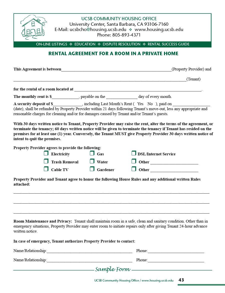 010 Dreaded Room Rental Agreement Template Alberta High Definition Full