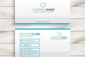 010 Dreaded Simple Busines Card Template Free Example  Minimalist Illustrator Design