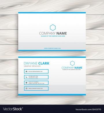 010 Dreaded Simple Busines Card Template Free Example  Minimalist Illustrator Design360