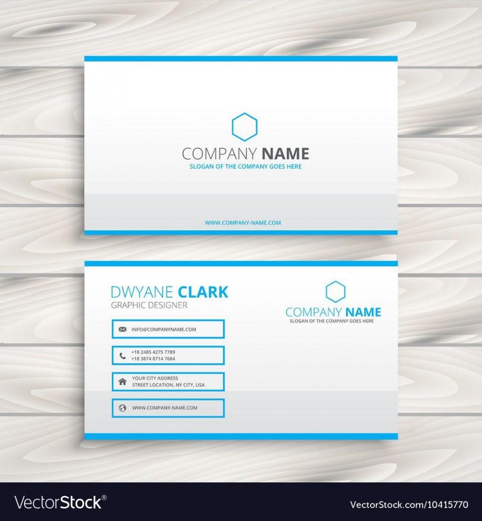 010 Dreaded Simple Busines Card Template Free Example  Minimalist Illustrator Design960