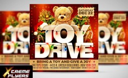 010 Dreaded Toy Drive Flyer Template Sample  Holiday Download Free Word