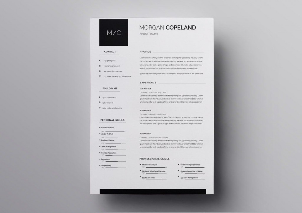 010 Excellent Download Resume Template Free Mac Sample  ForLarge