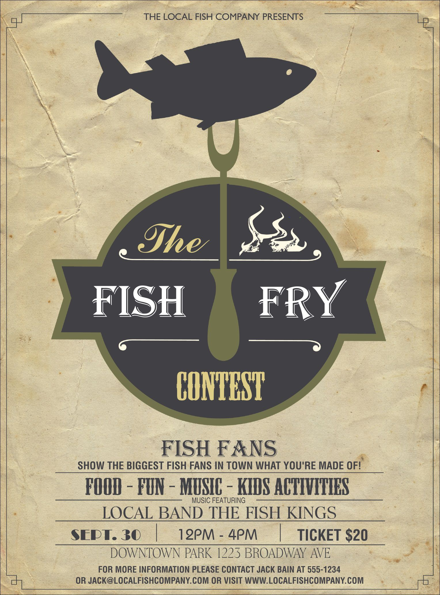 010 Excellent Fish Fry Flyer Template Picture  Printable Free Powerpoint PsdFull