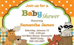 010 Excellent Free Baby Shower Card Template For Word Picture