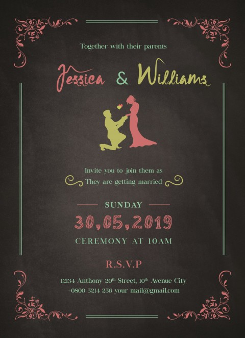 010 Exceptional Download Free Wedding Invitation Card Template Highest Quality  Marriage Format Psd480