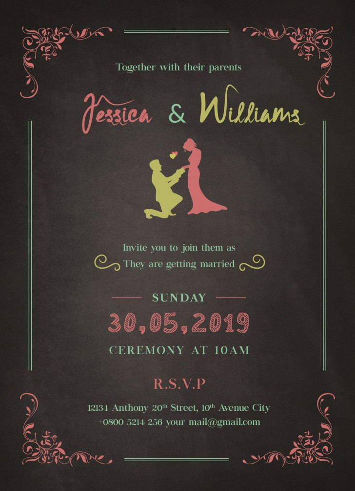 010 Exceptional Download Free Wedding Invitation Card Template Highest Quality  Marriage Format Psd728