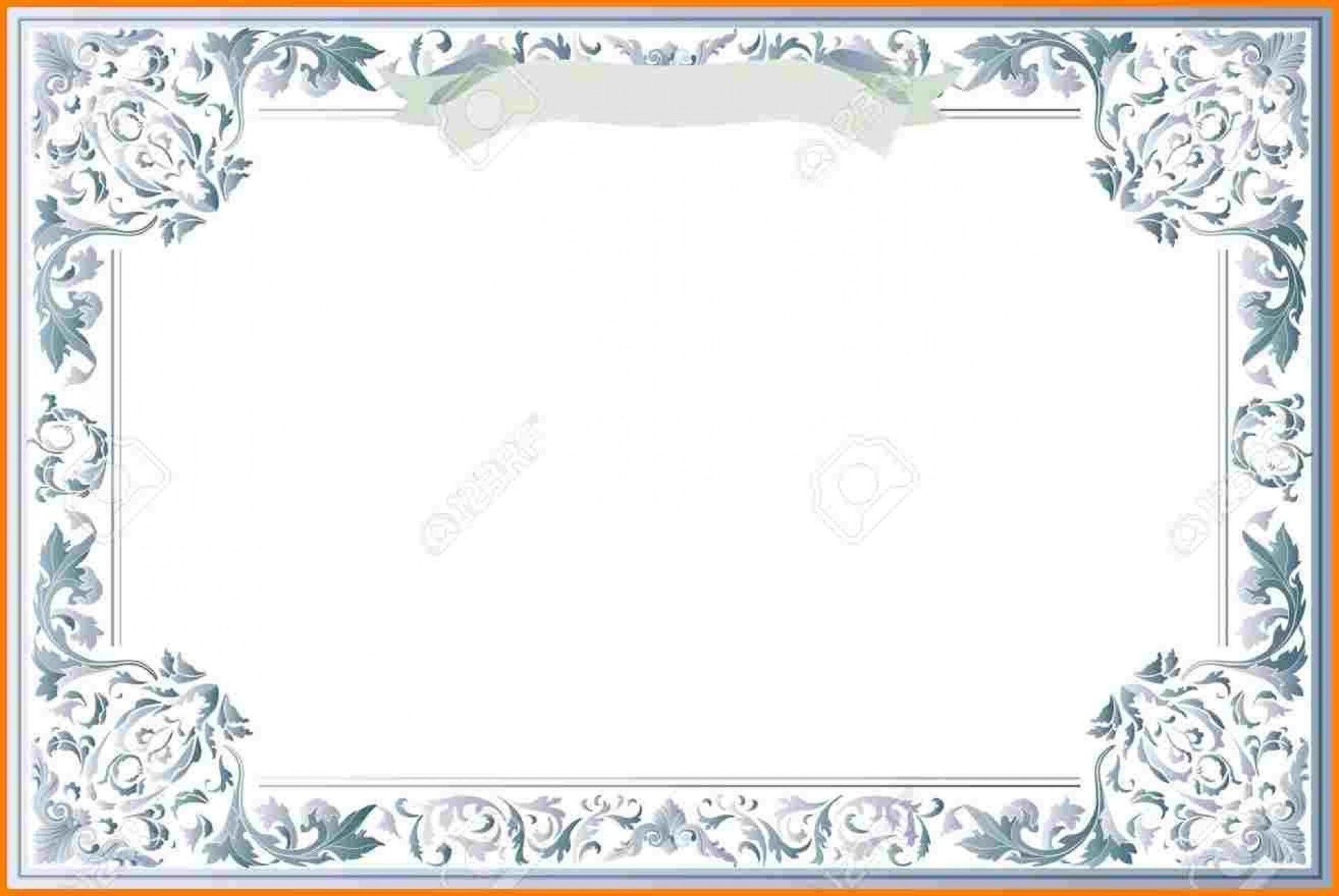 010 Exceptional Free Printable Blank Certificate Template Design  Templates Gift Of Achievement1920
