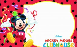 010 Exceptional Mickey Mouse Invitation Template High Def  Templates Clubhouse Birthday Free 1st Download