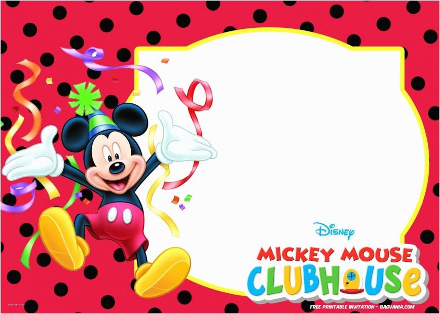 010 Exceptional Mickey Mouse Invitation Template High Def  Templates Free Download 1st Birthday Party Maker
