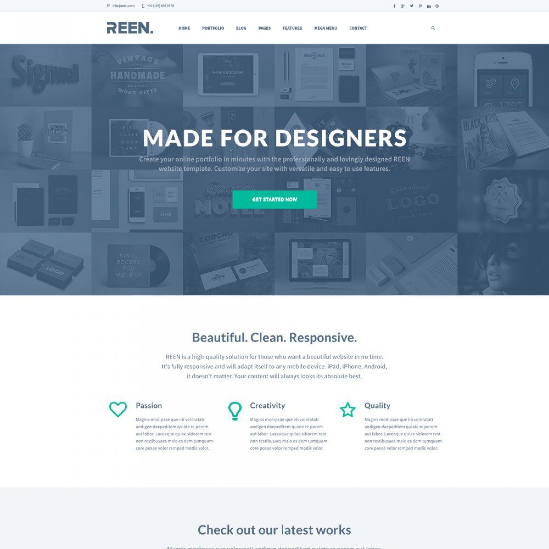010 Exceptional One Page Website Template Psd Free Download Highest Clarity 1920