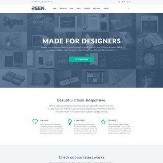 010 Exceptional One Page Website Template Psd Free Download Highest Clarity 320