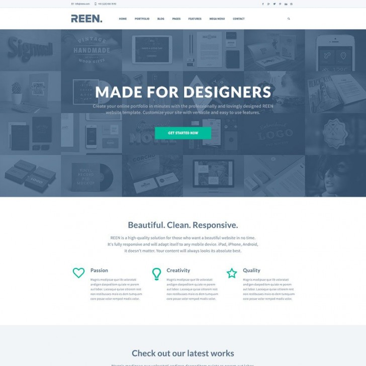 010 Exceptional One Page Website Template Psd Free Download Highest Clarity 728