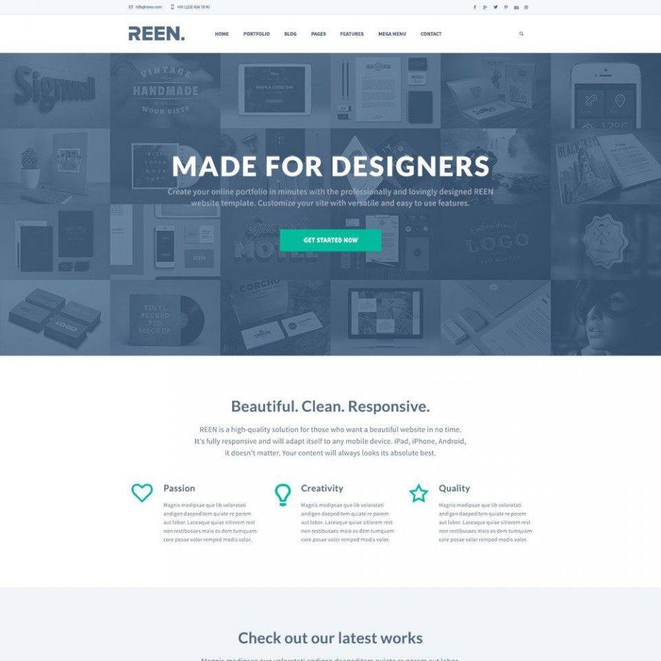 010 Exceptional One Page Website Template Psd Free Download Highest Clarity 960
