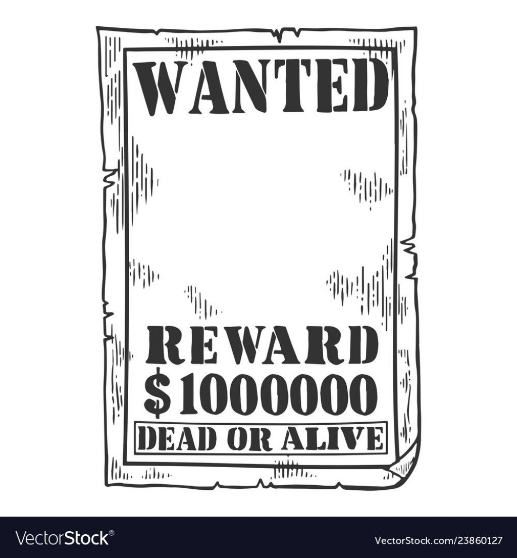 010 Exceptional Wanted Poster Template Pdf Concept  Free CharacterLarge