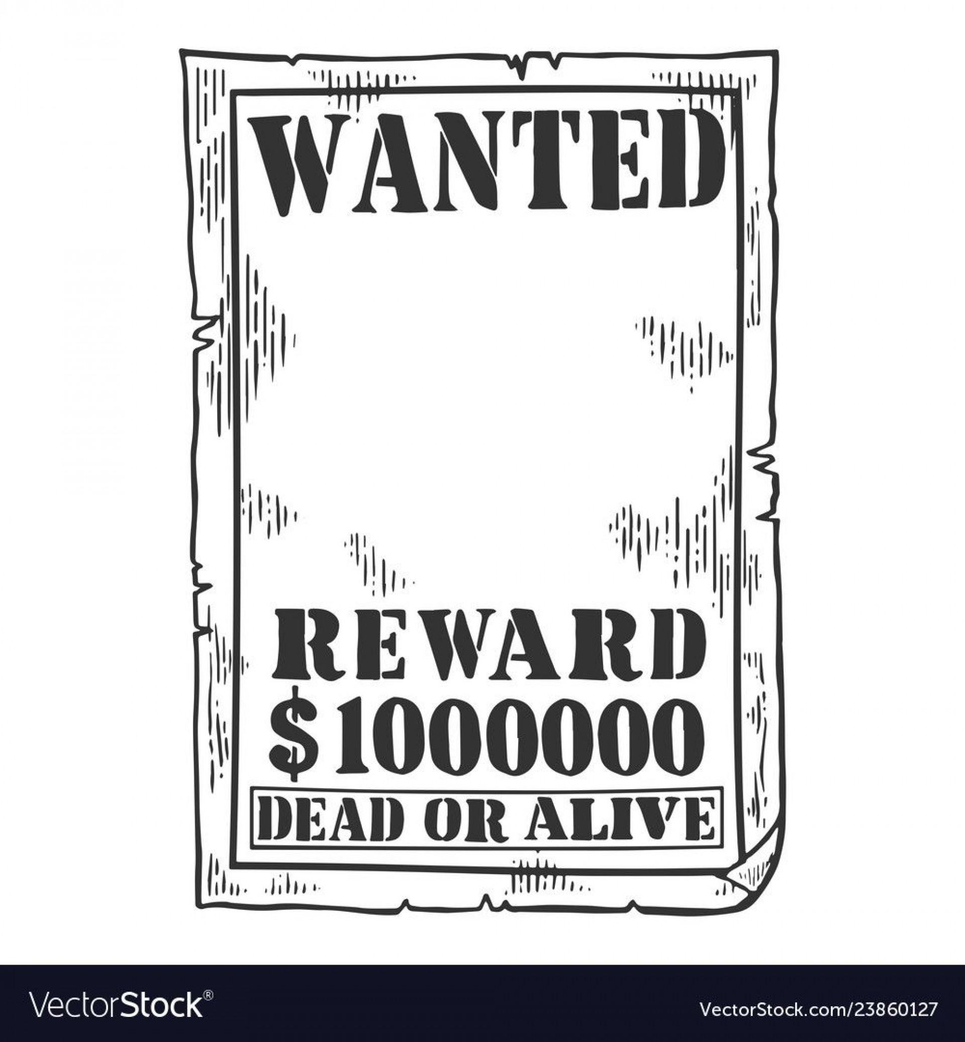 010 Exceptional Wanted Poster Template Pdf Concept  Free Character1920