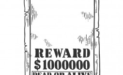 010 Exceptional Wanted Poster Template Pdf Concept  Free Character