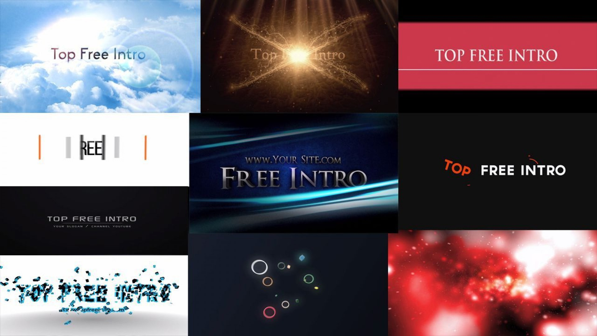 010 Fantastic Free After Effect Template Intro Download Idea  Zip Adobe Cc Cs61920