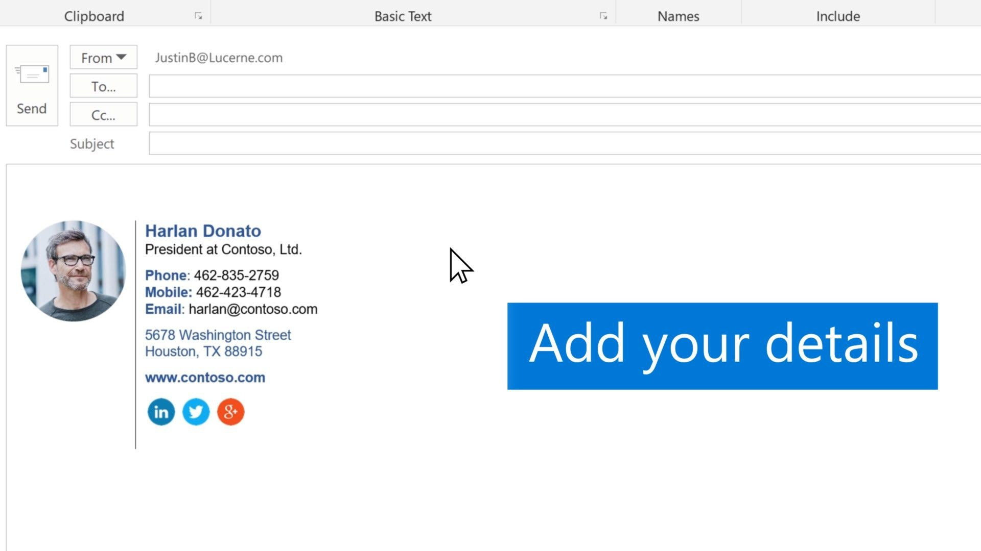 010 Fantastic Outlook Email Signature Template Example  Examples1920