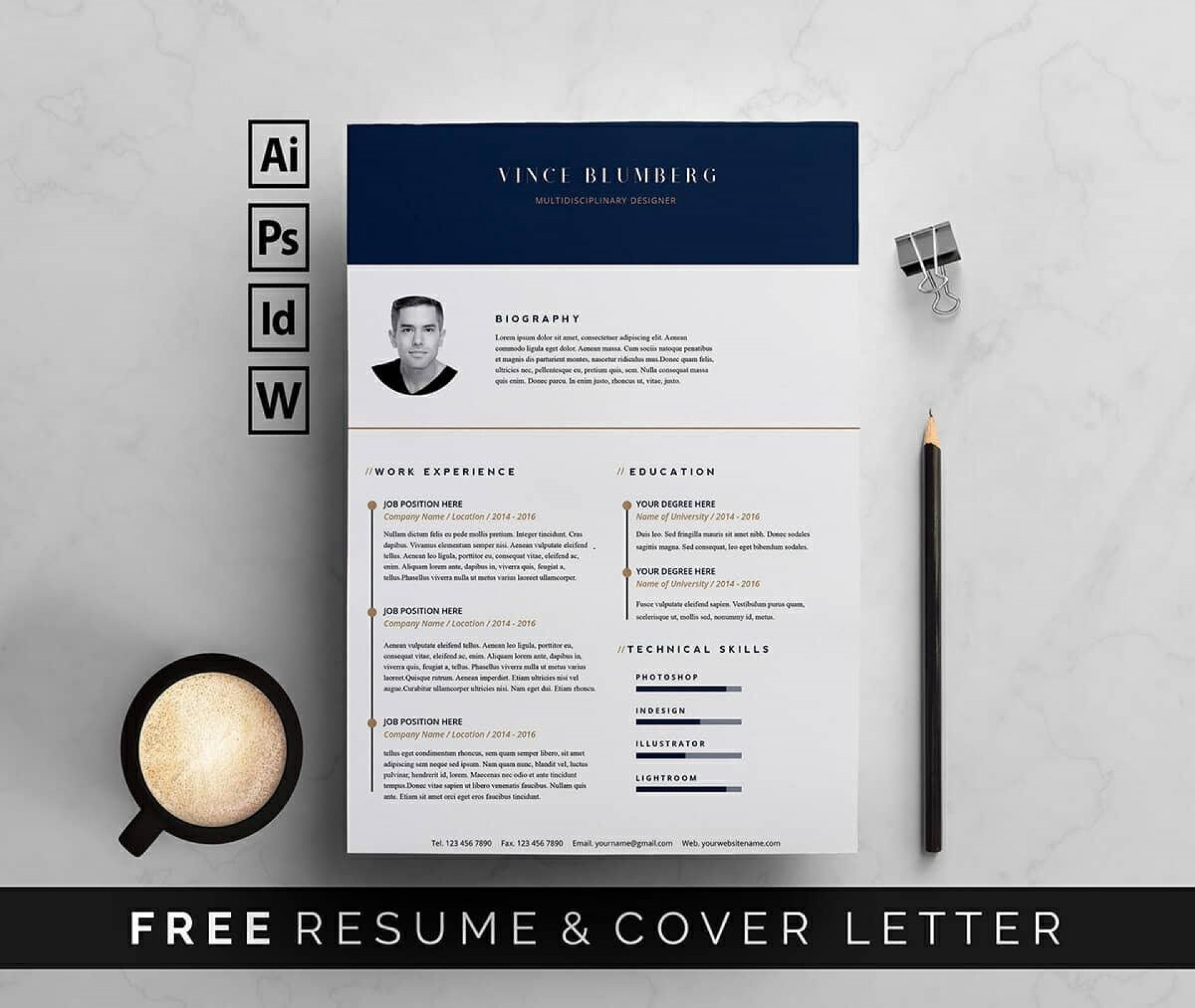 010 Fantastic Resume Template Word Free Download 2018 Example  Modern Cv1920
