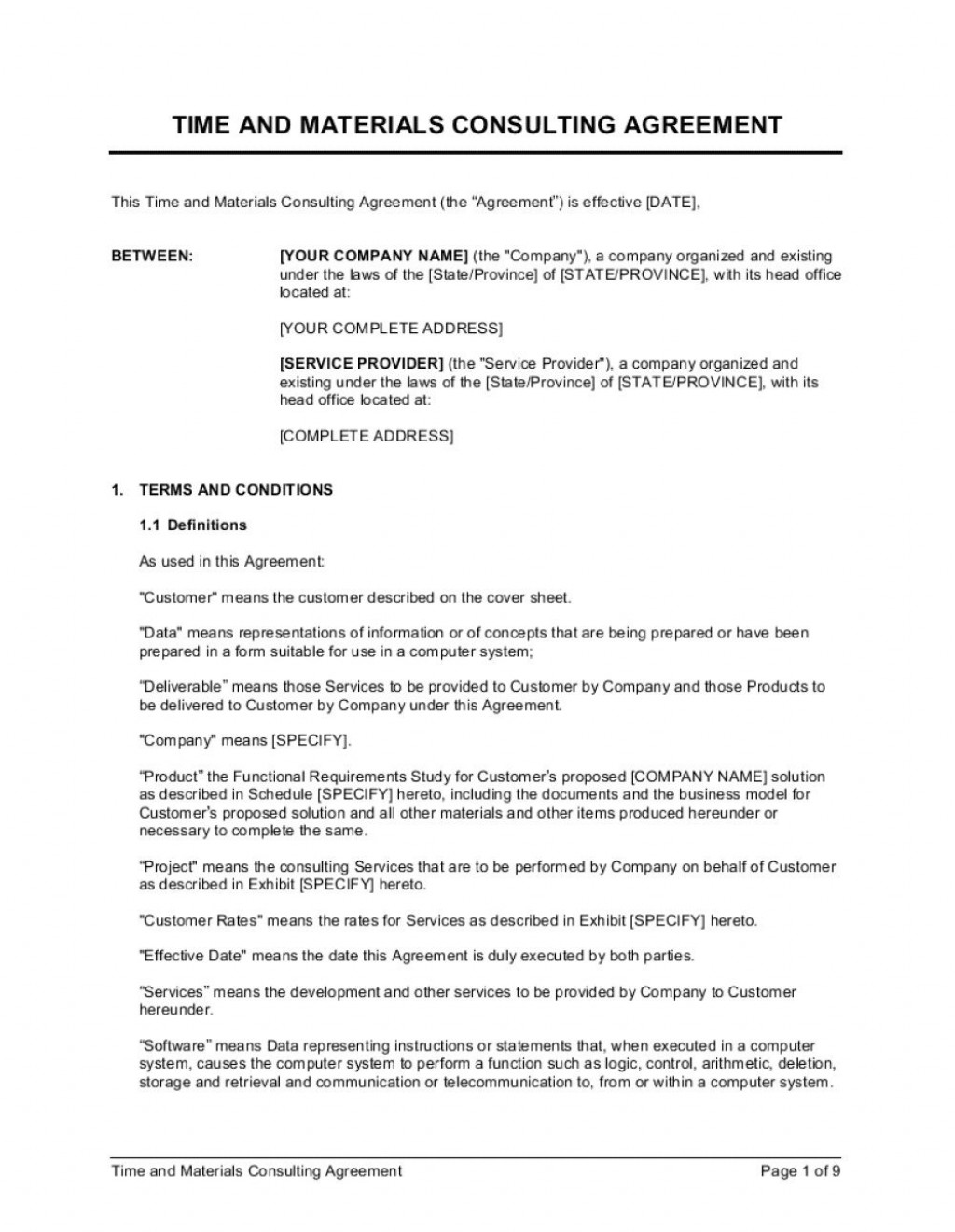 010 Fantastic Simple Consulting Agreement Template Image  Free Uk PdfLarge