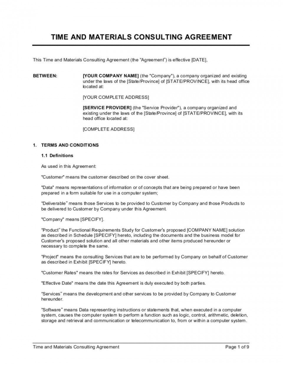 010 Fantastic Simple Consulting Agreement Template Image  Service Uk Free960