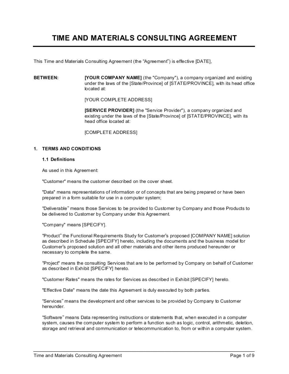 010 Fantastic Simple Consulting Agreement Template Image  Free Uk PdfFull