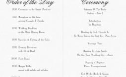 010 Fascinating Church Wedding Order Of Service Template Uk Design
