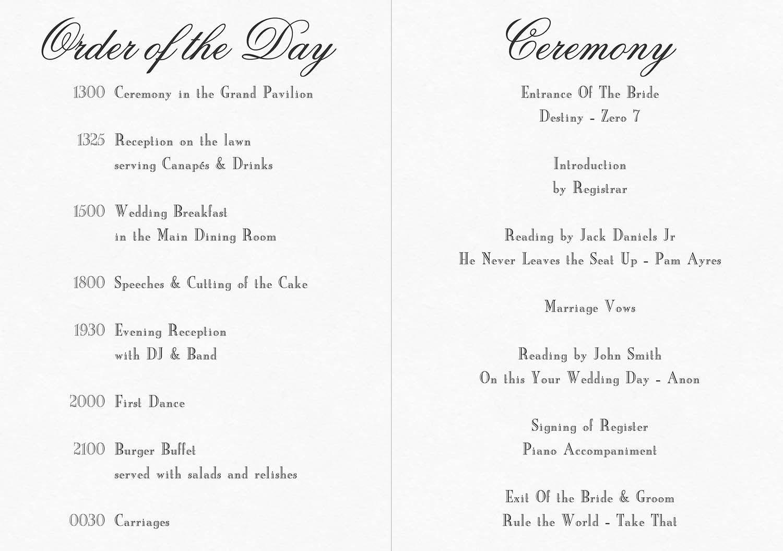 010 Fascinating Church Wedding Order Of Service Template Uk Design Full