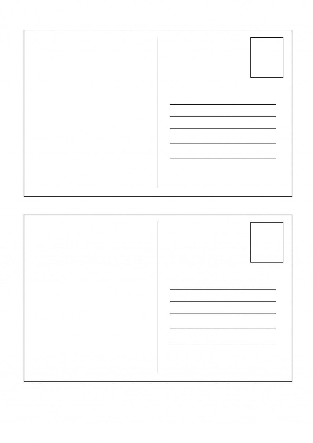010 Fascinating Free Blank Postcard Template For Word High Definition  Printable MicrosoftLarge