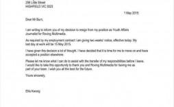 010 Fascinating Resignation Letter Sample Free Doc Idea  .doc