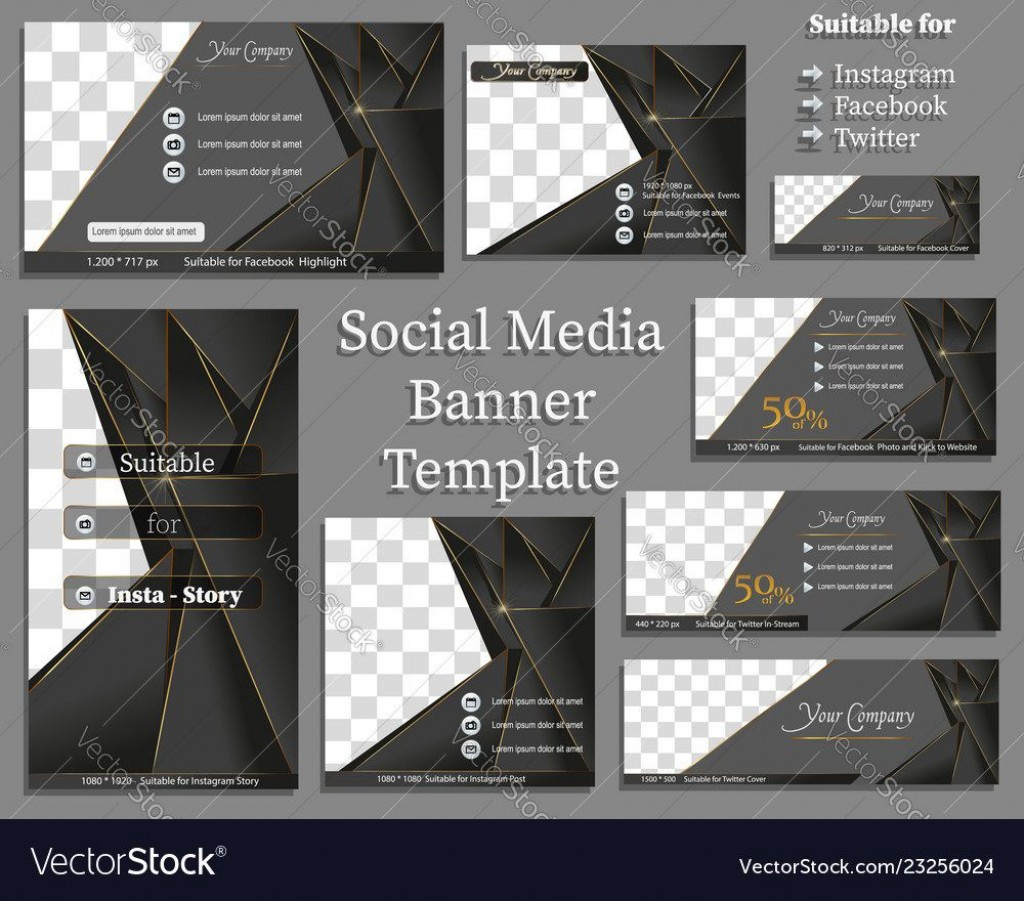 010 Fascinating Social Media Banner Template Free Highest Quality Large