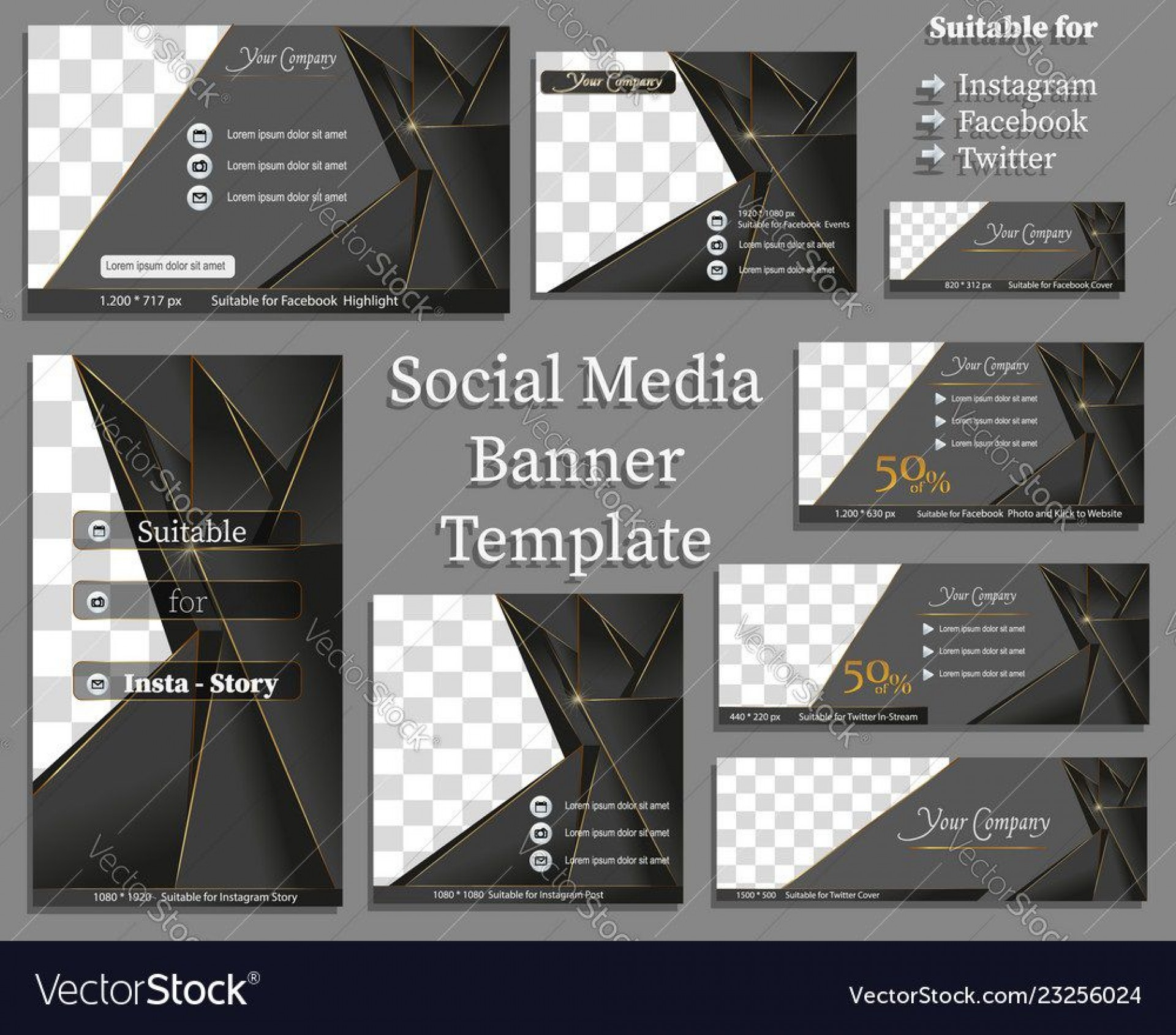010 Fascinating Social Media Banner Template Free Highest Quality 1920