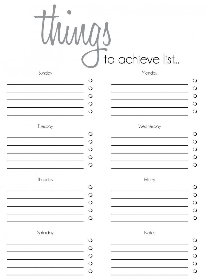 Todo List Template Word Addictionary