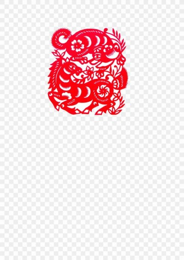 010 Fearsome Chinese Paper Cut Template High Resolution 360