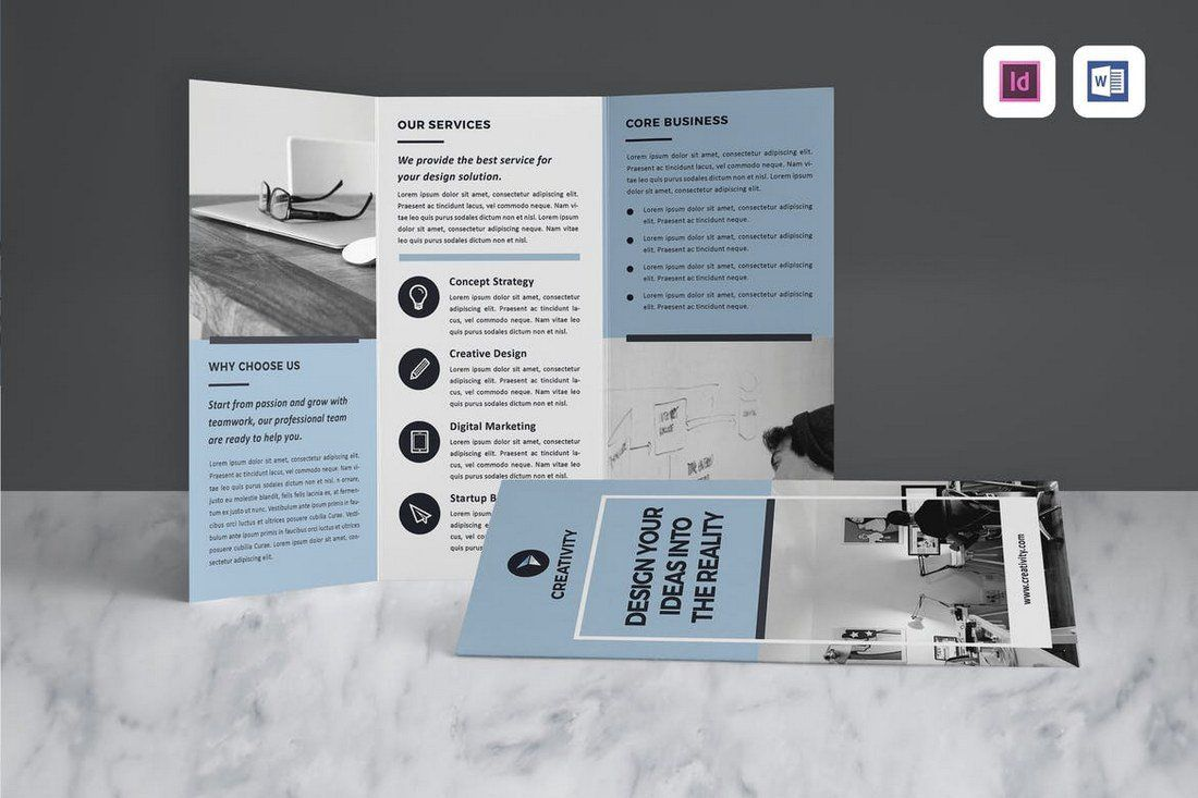 010 Fearsome Indesign Tri Fold Brochure Template Example  Free Adobe 11x17Full