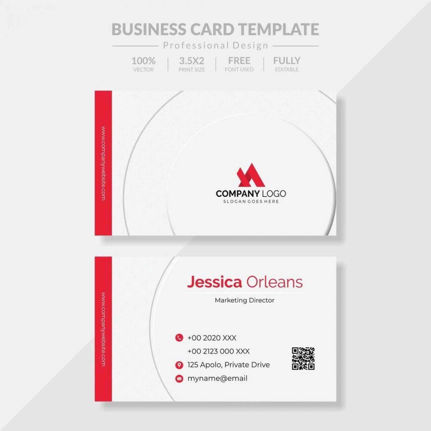 010 Fearsome Simple Visiting Card Design Free Download High Resolution  Busines Psd File1400