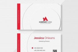 010 Fearsome Simple Visiting Card Design Free Download High Resolution  Busines Psd File