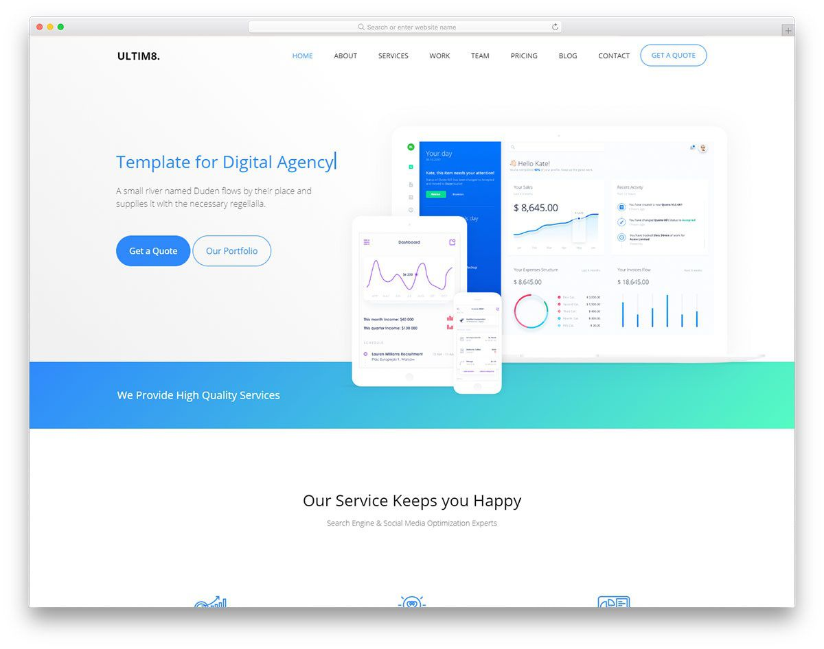 010 Fearsome Web Template Html Cs Free Download High Resolution  Responsive Website With Javascript In Jquery EcommerceFull