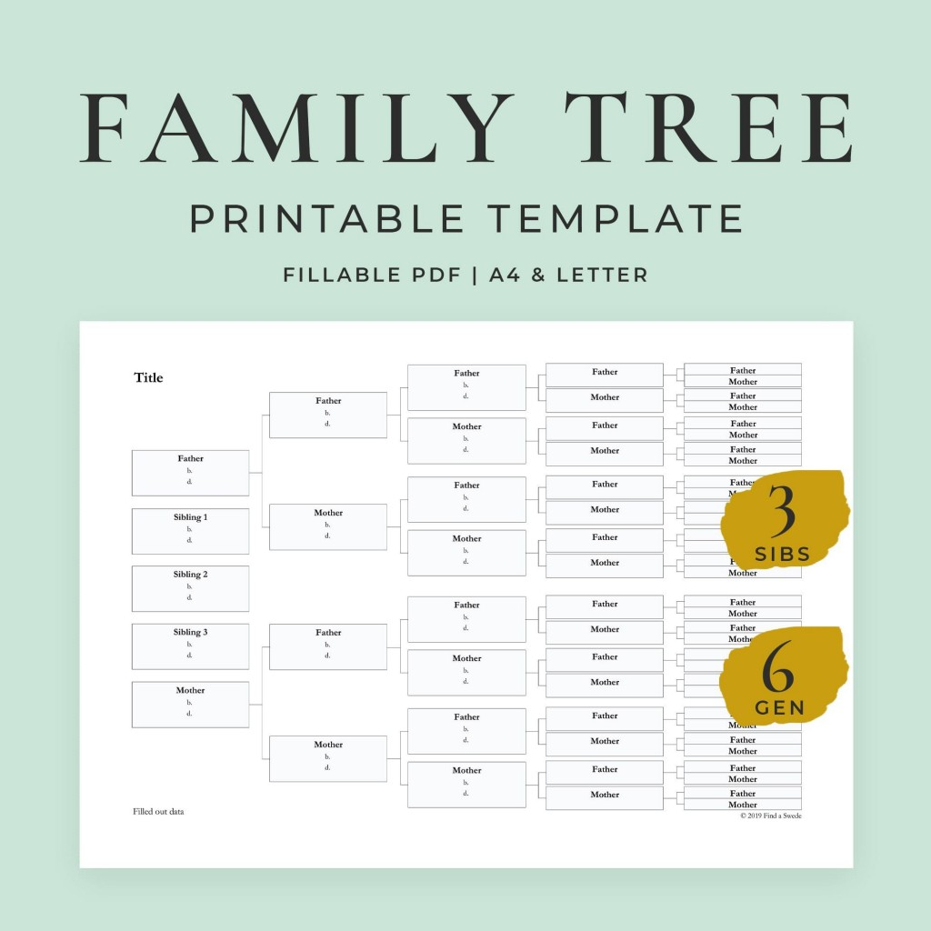 010 Formidable Free Editable Family Tree Template With Sibling Example  SiblingsLarge