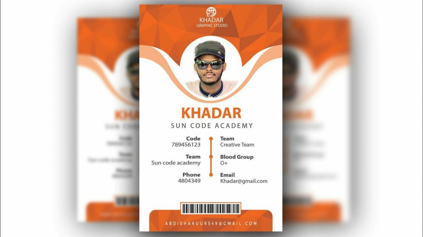 010 Formidable Id Badge Template Photoshop Concept  Employee1400