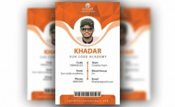 010 Formidable Id Badge Template Photoshop Concept  Psd Employee