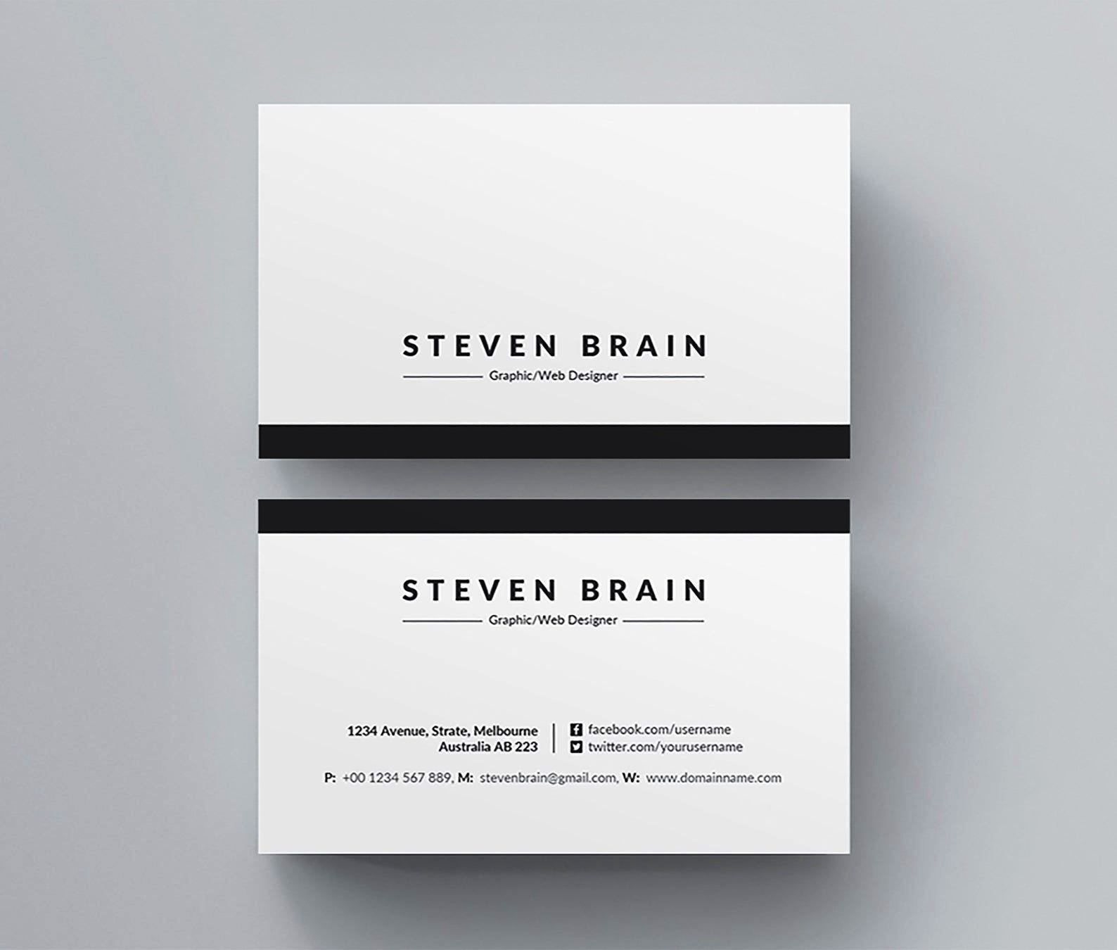 Download Free Blank Business Card Template Microsoft Word ...