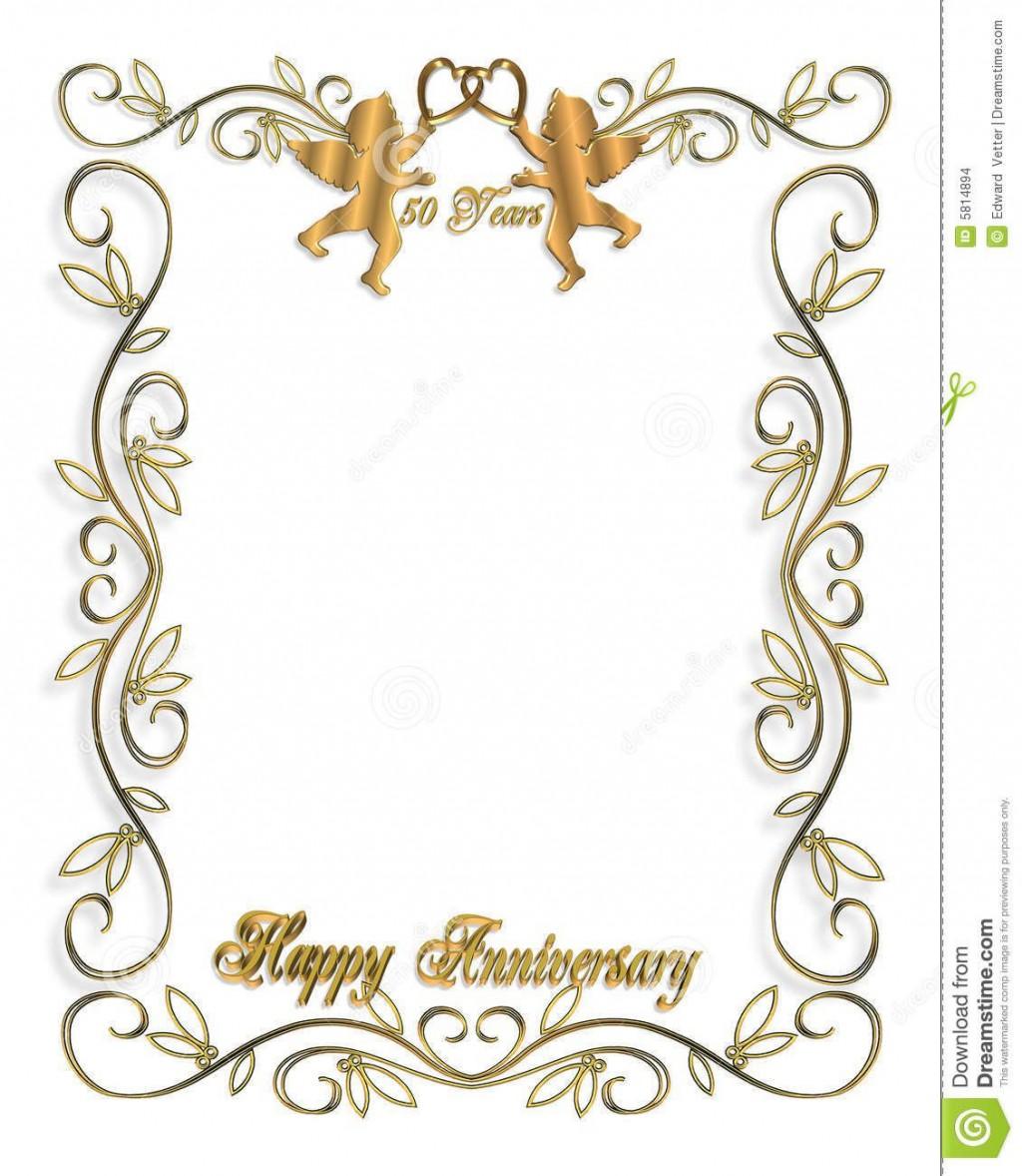 010 Imposing 50th Wedding Anniversary Invitation Template High Resolution  Templates Card Sample GoldenLarge